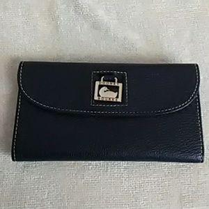 Authentic Dooney & Bourke wallet, navy